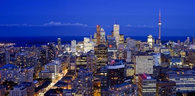 Beleza das luzes em Toronto