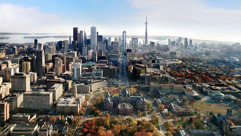 Vista aérea da cidade de Toronto