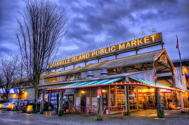 Public Market em Grandville Island Vancouver