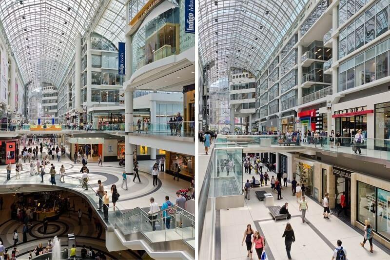 Shopping Eaton Centre em Montreal