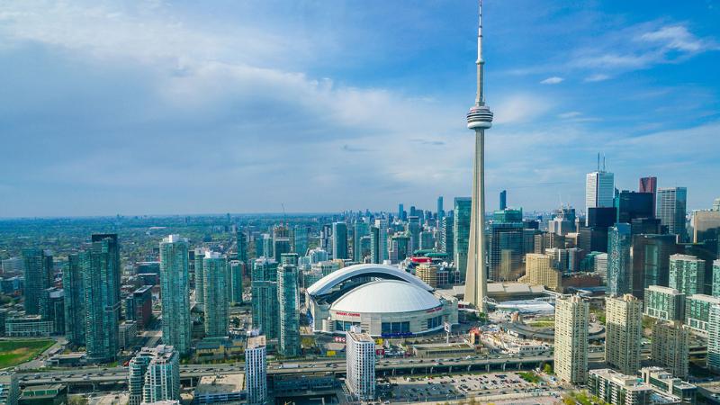 Vista da cidade de Toronto