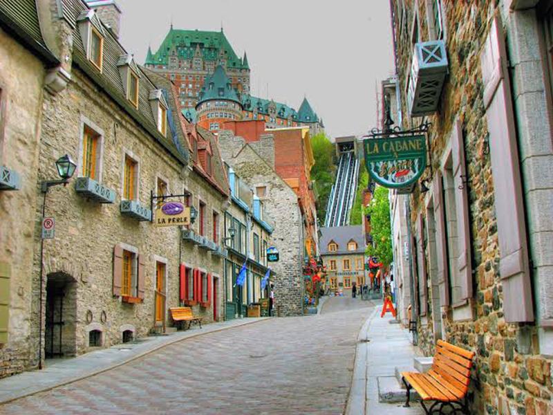 Região de Old Montreal em Quebec