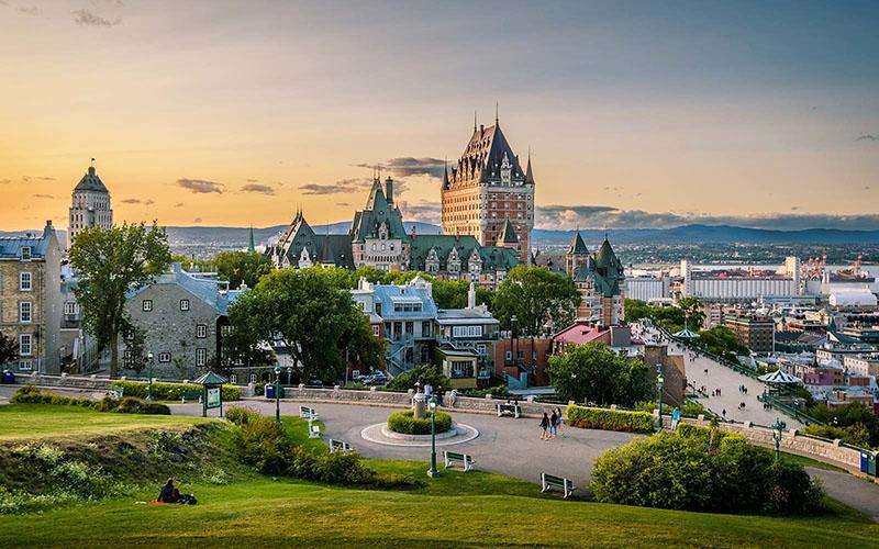 Vista da excursão guiada a pé em Quebec