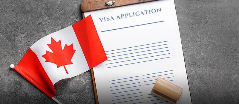 Ilustração do Formulário de solicitação do visto canadense
