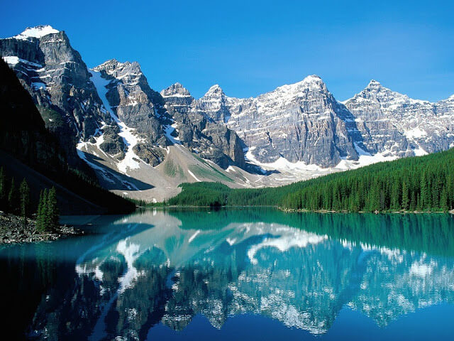 Lago Moraine em Banff