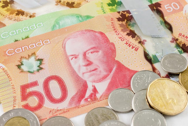 Compra do dólar canadense