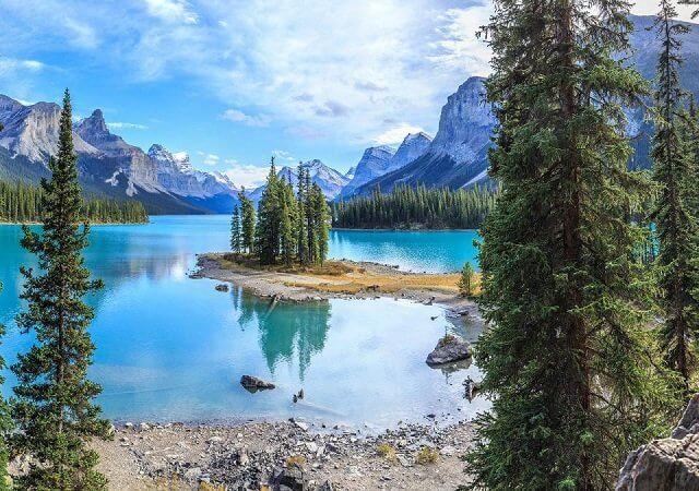 Passeio pelo Lago Maligne em Jasper
