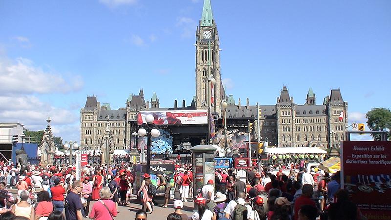 Canada Day no Parliament Hill em Ottawa