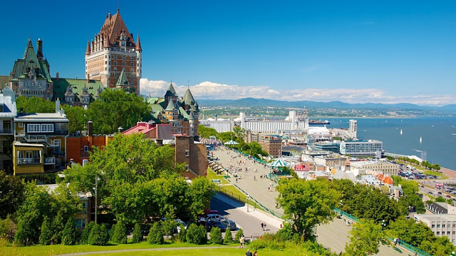 Vista da cidade de Quebec