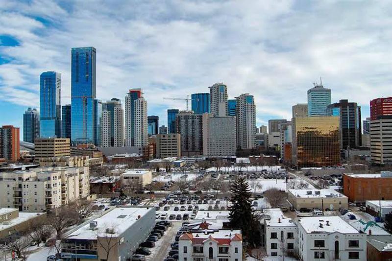 Bairro Downtown em Edmonton