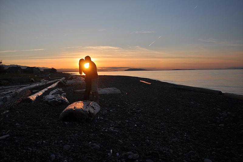 Cenários românticos de Vancouver