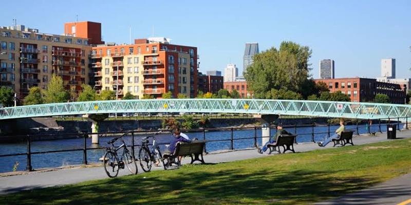 Vista do Canal Lachine em Montreal