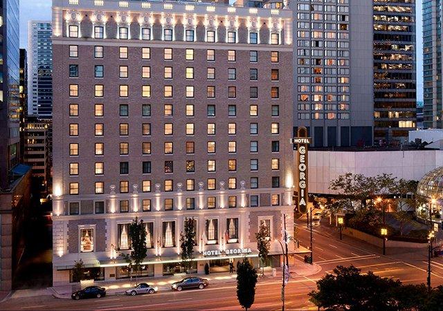 Hotéis no centro turístico de Vancouver