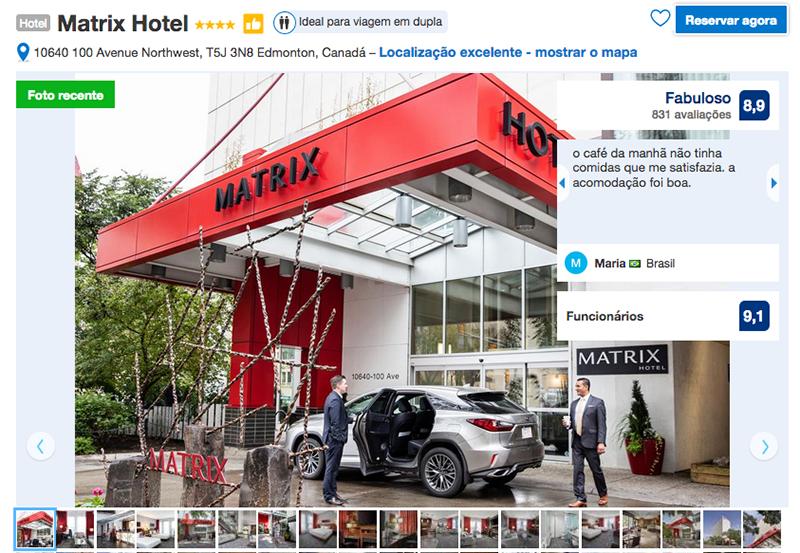 Hotel Matrix em Edmonton
