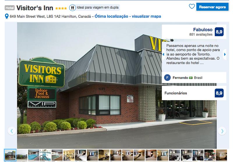 Hotel Visitor's Inn em Hamilton