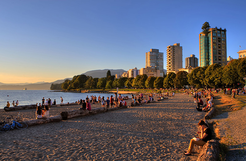 Sunset Beach em Vancouver Intro