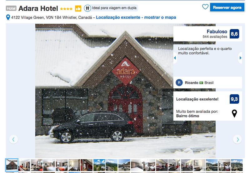 Reservas Hotel Adara em Whistler