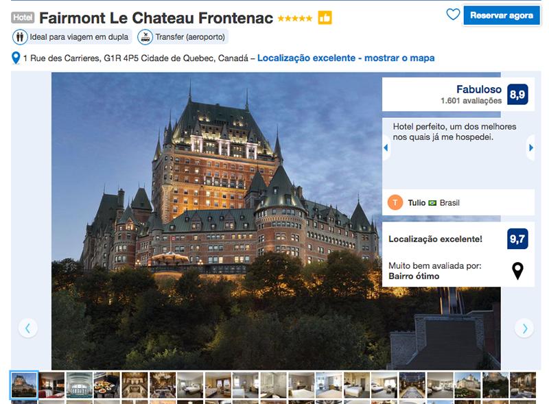 Reservas Hotel Fairmont Le Chateau Frontenac em Quebec