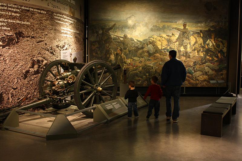 Peças do Museu da Guerra do Canadá em Ottawa
