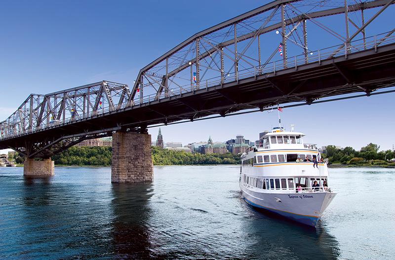 Cruzeiro turístico no rio Ottawa