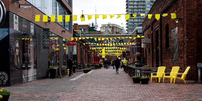 Comércios do Distillery District em Toronto