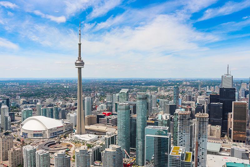 Pontos turísticos de Toronto vistos na Excursão de Helicóptero
