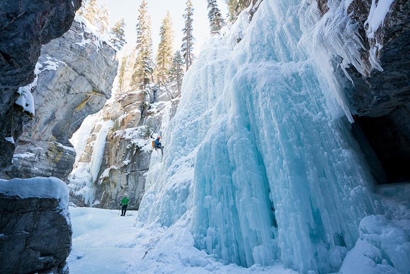 Cenários de inverno no Parque Nacional em Jasper