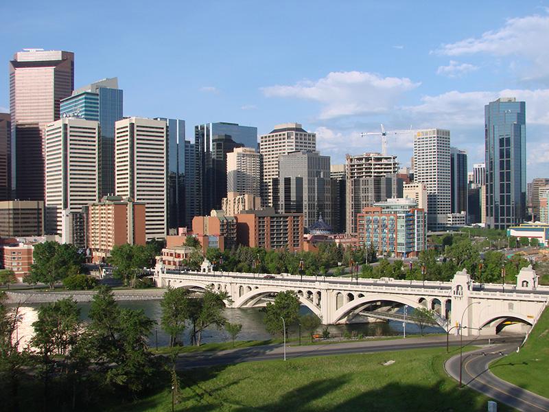 Vista de Calgary Downtown