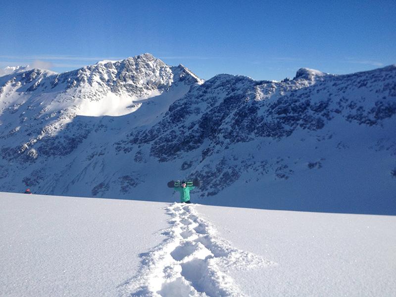Inverno nas gelerias de Whistler