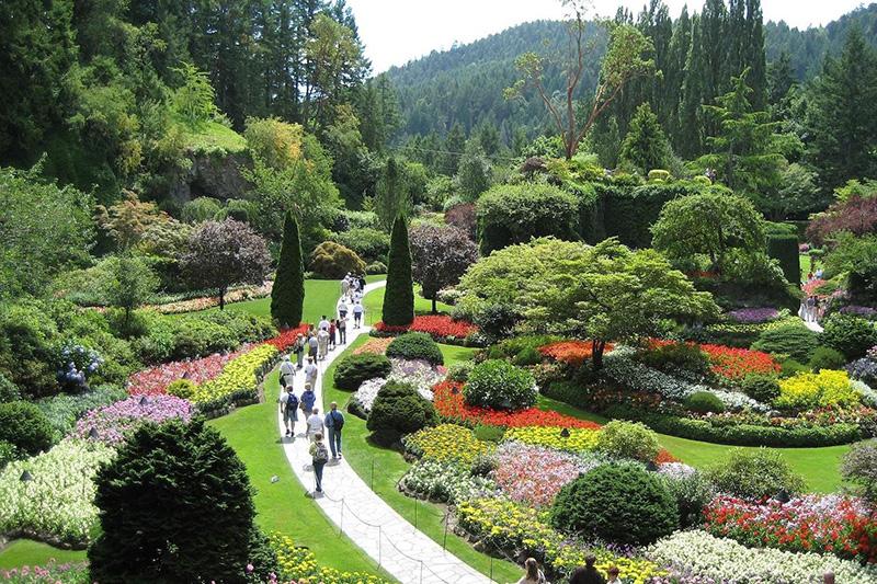 Vista dos Jardins de Butchart em Victoria