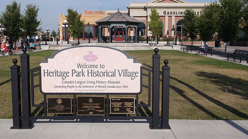 Museu Aldeia Histórica do Heritage Park em Calgary