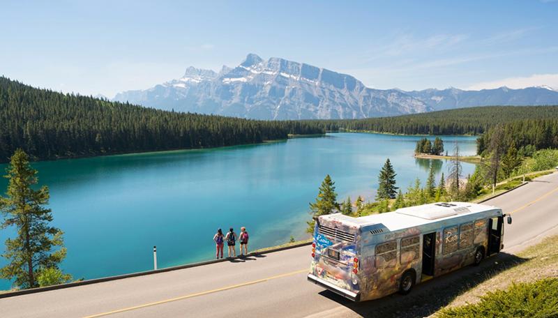 Vista do Parque Nacional em Banff