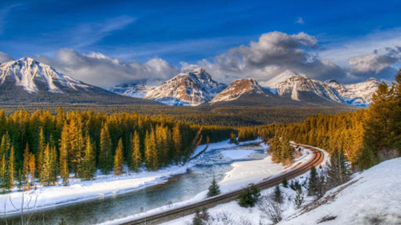 Passeio de Trenó em Banff