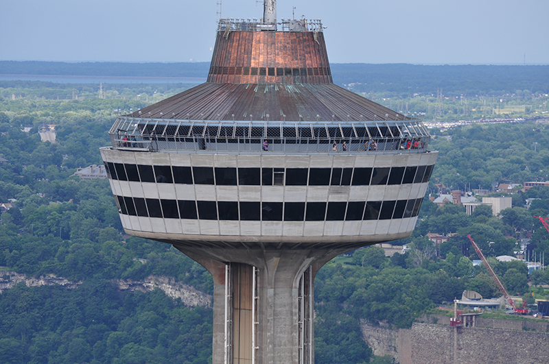 Parte mais alta da Skylon Tower em Niagara Falls