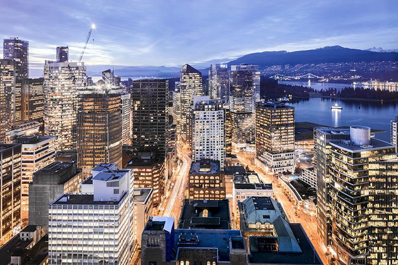 Vista do Mirante em Vancouver