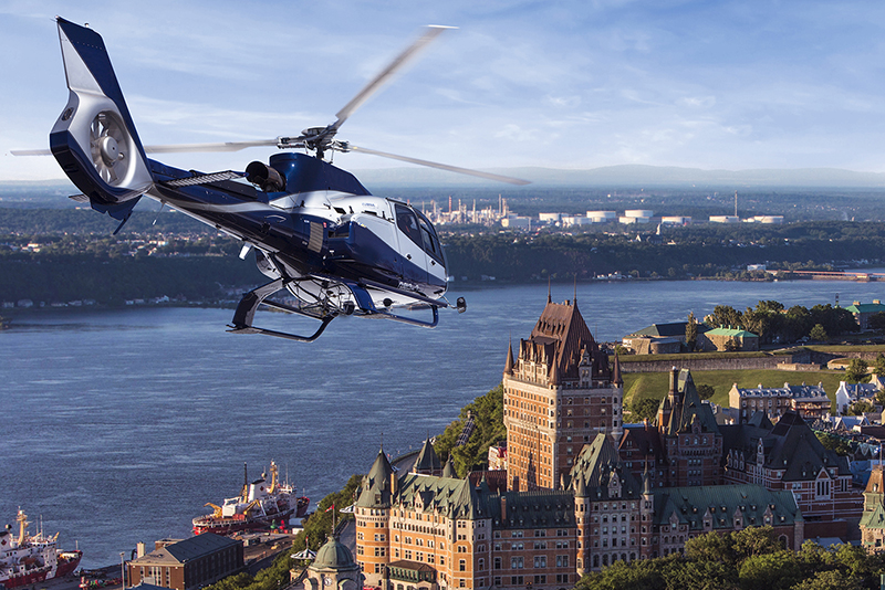 Chateau Frontenac visto do alto em Quebec