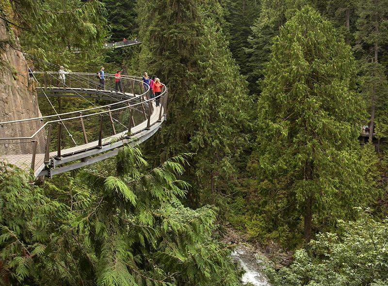 Excursão na Ponte Capilano no Vancouver Parque