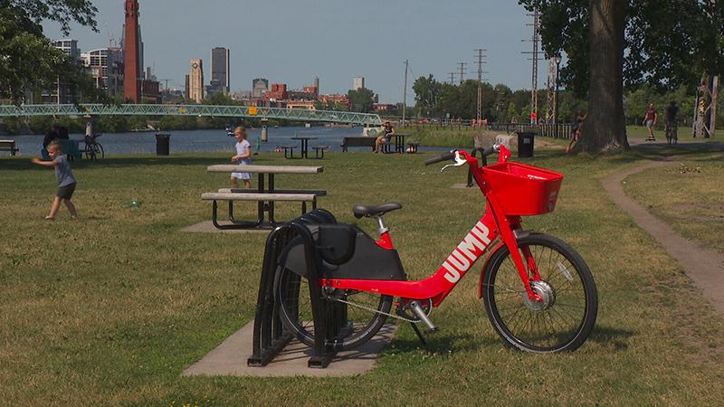 Pontos de parada da bicicleta elétrica em Montreal