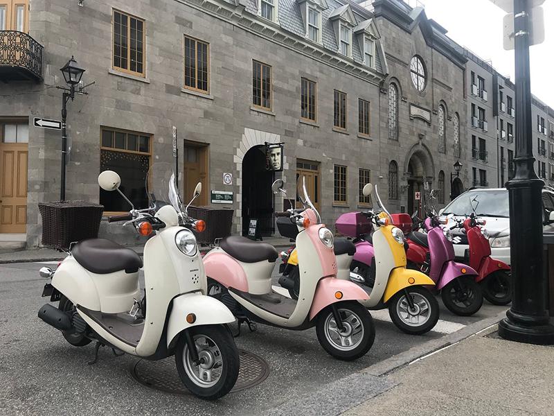 Passeio de scooter em Montreal