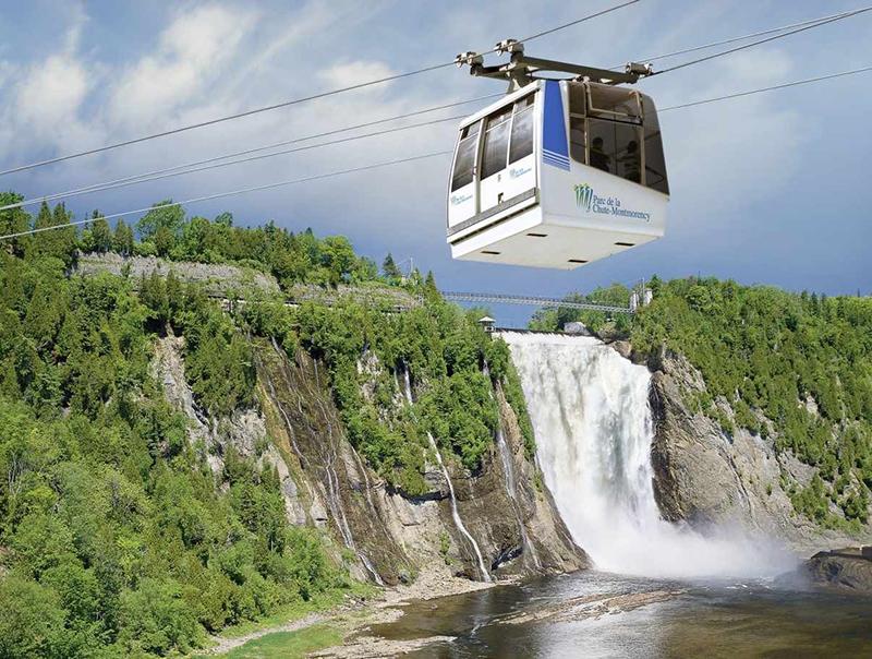 Teleférico nas Cataratas de Montmorency em Quebec