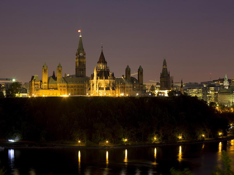 Excursão noturna em Ottawa