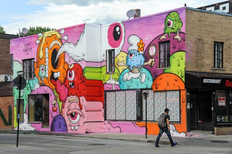 Mural de Arte Urbana em Montreal