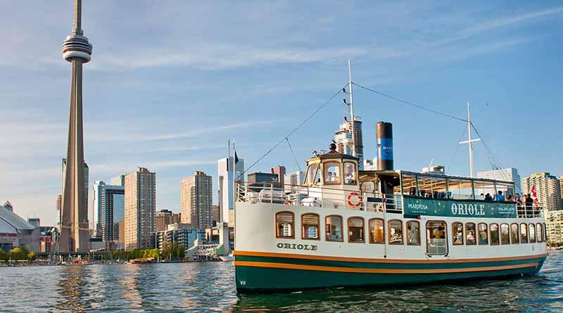 Pontos turísticos no Cruzeiro turístico em Toronto