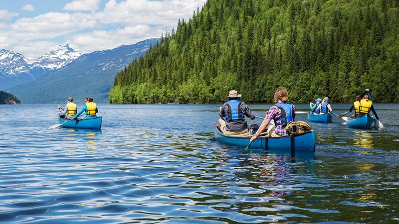 Excursão de canoa em Banff