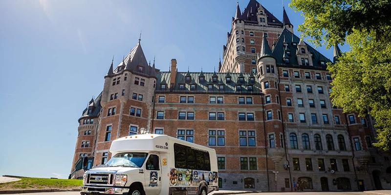 Excursão de ônibus por Quebec