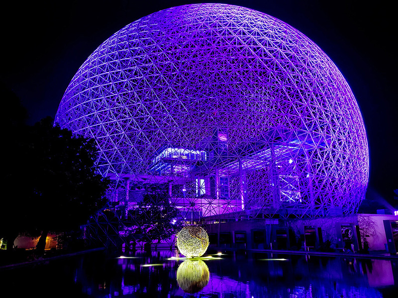 Excursão noturna em Montreal - Biosphere