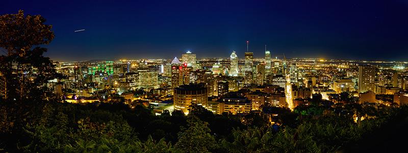 Vista da cidade de Montreal à noite