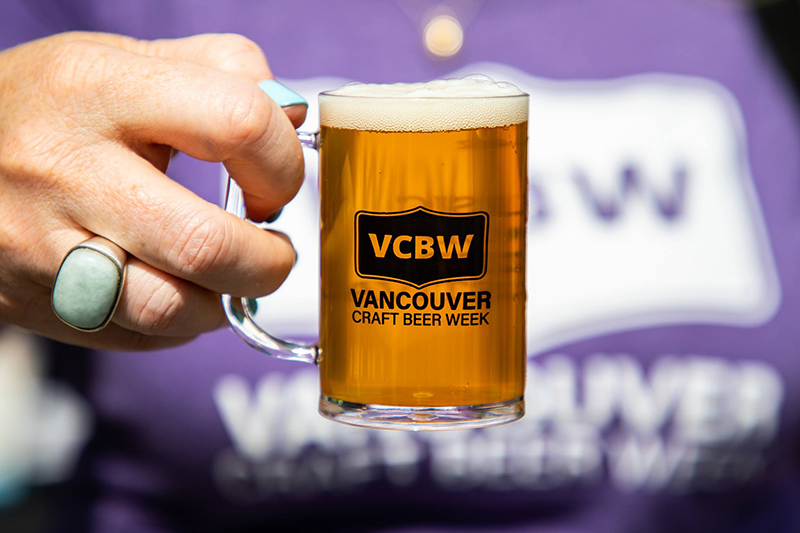 Copos de degustação da Excursão por cervejarias em Vancouver