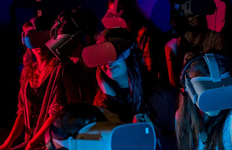 Experiência de realidade virtual em Quebec