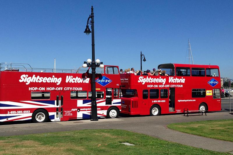 Ônibus turístico em Victoria